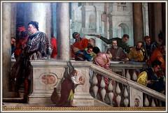 """Véronèse parvient à déjouer les pièges des inquisiteurs avec beaucoup de finesse en feignant la naïveté et en arguant de la liberté de l'artiste. Il déclare ainsi : «Nous autres peintres jouissons des mêmes licences que les poètes et les fous"""". (Barbara DALMAZZO-TEMPEL) Tags: venice italy italia venise venezia italie galleria véronèse paolocaliari lerepaschezlévi dellacademia"""