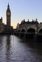Westminster Bridge, London SW1, UK (Ministry) Tags: uk bridge blue sunset sky london tower clock westminster thames river square elizabeth treasury housesofparliament parliament bigben palace portcullishouse sw1 sw1a bigbenisthebellnotthetower rnbthames