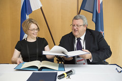 Minna Kivimäki and Gerry Brownlee