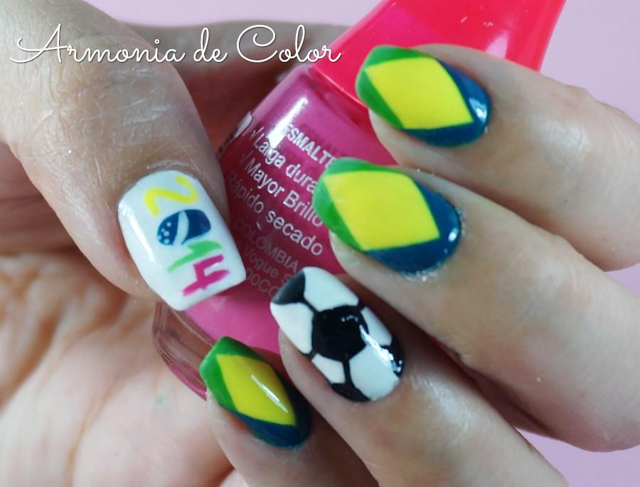 Nail art mundial brasil6
