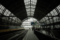 Centraal Station (seango) Tags: trip travel summer vacation holland bus travelling netherlands amsterdam lens lumix prime coach europe european tour tourist panasonic trainstation micro eurotrip pancake 20mm contiki centraal bustour 2014 f17 wonderlust primelens 43rds gx7