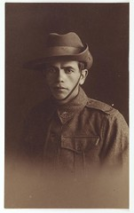 Alfred Duroux by State Library of New South Wales collection - Date of Birth: 11.8.1892  Date of Enlistment: 12.6.1918  Trade or Calling: Labourer  Born in or near what Town: Cangai via Copmanhurst  Address prior to Enlistment: Cangai via Copmanhurst  Rank, Number, Battalion, Distinctions: D Coy  Casualities and where:  Name & Address of Next of Kin: Ruby Pearl Duroux Cangai via Copmanhurst (Wife)  Name and last address of Father:  www.acmssearch.sl.nsw.gov.au/search/itemDetailPaged.cgi?i...