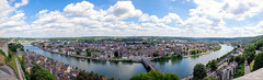 namur (Vittorio Twictor) Tags: park street old city trip travel bridge trees sunset summer vacation sky urban panorama sun tree green water canon river photography photo spring europe raw belgium photos wide be namur wideformat photosticht