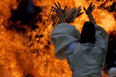 Sacred fire II ( Ogawasan) Tags: japan fire kyoto religion goma   mystical shinto  japon fushimiinari esoteric taisha fushimi   vajrayana kannushi       prayersticks kojiki ohitaki   nihonshoki   kaminomichi inarikami ethnicreligion   gomaprayersticks practicesandmyths ohitakisai hitakisai