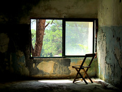 Room with a view [Explored] (pefkosmad) Tags: pefkosjune2014 rhodes eleousa italian settlement village sanatorium derelict abandoned buildings greece greekislands griechenland holiday hellas dodecanese vacation decay chair seat window explore explored eloussa