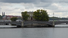 Island People (m_artijn) Tags: house water stockholm building bridge se island cloud