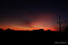 Orange and The Black (keanulaksana) Tags: sunset silhouette black orange gradation indonesia surabaya landscape sky beautiful wallpaper background cool highresolution
