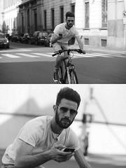[La Mia Citt][Pedala] al telefono (Urca) Tags: milano italia 2016 bicicletta pedalare ciclista ritrattostradale portrait dittico nikondigitale mir bike bicycle biancoenero blackandwhite bn bw 89857 telefono