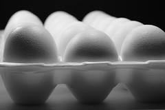 Don't sweat it (Quik Snapshot) Tags: dontsweatit slta58 sony egg blackwhite bw shadows a58 alpha closeup tamron18200mm texture moisture package food gourmet l