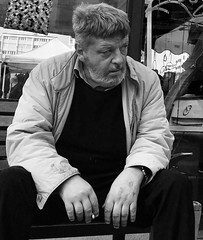 Man on a bench (Eric_G73) Tags: people street streetphotography candid candidphotography cigarette smoking