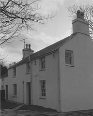 A ghost disturbs Pete and Sian Allport after moving to Garreg Wen near Porthmadog, home of the harpist Dafydd y Garreg Wen (1556991)3 (LlGC ~ NLW) Tags: cymru wales llyfrgellgenedlaetholcymru nationallibraryofwales charlesgeoff19092002 negyddffilm filmnegatives hauntedhouse dafyddygarregwen ghost fright fear haunted