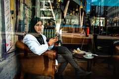 Watching Windows (Keith Vaughton) Tags: keithvaughton streetphotography x100t colour manchester