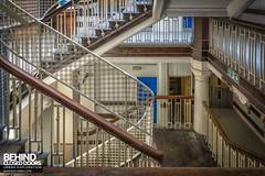 Staircase at Royal London Hospital (Behind Closed Doors Urbex) Tags: hospital royallondon london whitechapel uk stairs staircase railing bannister steps inside urbex urbanexploration urbandecay urbanexplorer ue trespassing andyk bcd wwwbcdurbexcom behindcloseddoors