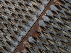 Pier at Port of Ilwaco 2539 A (jim.choate59) Tags: metal rust pier port ocean sea boat marine jchoate ilwaco portofilwaco ilwacowashington pattern texture abstract sharp minimalism marina nautical diagonal grip rough