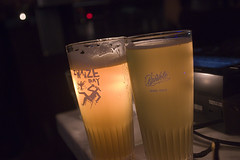 Last Night at Volo Glasses (Stephen Gardiner) Tags: toronto ontario 2016 barvolo yongestreet beer brewing bar dundonaldstreet lastnightonyonge zwanzeday cantillon pentax k3ii 1645