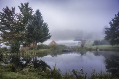 160924_023 Foggy Morning (MiFleur...Thanks for visiting!) Tags: athome citéecologique ecovillage pond communityliving reflection intentionalcommunitiessustainablelivingécologique permaculture