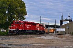 """Westbound Local in Kansas City, KS (""""Righteous"""" Grant G.) Tags: cp canadian pacific railroad railway locomotive train trains westbound autorack auto local west up union kansas city"""