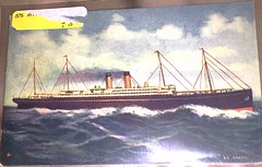Postcard from around 1909 showing the SS Baltic of the White Star Line (Gadsden1500) Tags: whitestarline rmsbaltic whitestarlinebigfour bigfour rmsrepublic postcard oceanliner