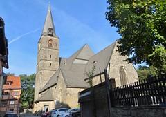 Quedlinburg: Aegidiikirche (zug55) Tags: quedlinburg deutschland germany sachsenanhalt saxonyanhalt harz unescoworldheritagesite unesco unescowelterbe welterbe worldheritagesite aegidiikirche kirche church staegidii gothic gotisch staegidiikirche