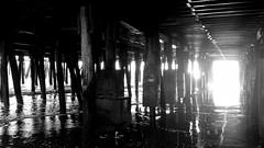 Sunset Under Atlantic City Boardwalk (Yuri Dedulin) Tags: 2016 atlanticcity nj newjersey weekends yuridedulin boardwalk daily atlanticcityboardwalk sunset city jerseyshore southjersey
