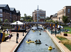 Frederick (StateMaryland) Tags: western canal kayak boat tourist tourism shopping spring downtown