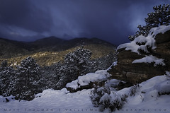 Cold Shroud (Matt Thalman - Valley Man Photography) Tags: colorado nationalpark rmnp rockymountainnationalpark blue clouds cloudy cold cool forest landscape mountain mountains sky snow snowscape snowy trees white winter