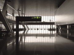 Hamad International Airport (osteras) Tags: reflection window airport qatar doha hamad gate