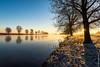 Sunrise @ Maas - Grave (NL) (Henk Verheyen) Tags: grave maas frost rijp river rivier sunrise vorst water zonsopkomst noordbrabant nederland nl