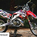 """#Repost @kellenbrauer with @repostapp ・・・ 😍😍😍 Bought a 2002 CR250 recently and it was in great condition but, boy, does it look good now! Thanks to @fammxdesign for hooking it up with the sick @startyoursystems graphics. A <a style=""""margin-left:10px; font-size:0.8em;"""" href=""""http://www.flickr.com/photos/99185451@N05/30592227936/"""" target=""""_blank"""">@flickr</a>"""