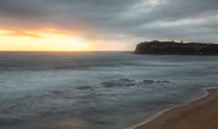 Let there be light (tara.bowen) Tags: sunrise collaroy longreef longexposure beach water sydney nsw australia headland canon