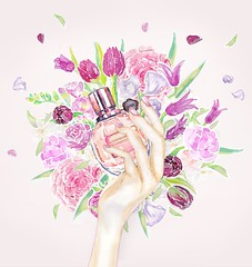 day-4_VIKTOR&ROLF (Liz Meester) Tags: lizmeester liz meester viktorenrolf viktorrolf parfume flowerbomb ink illustration