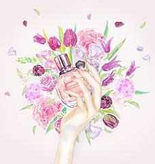 day-4_VIKTOR&ROLF (Liz Meester) Tags: lizmeester liz meester viktorenrolf viktorrolf parfume flowerbomb ink illustration