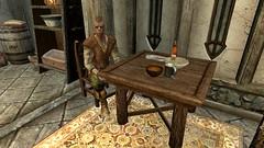 Chillin in the house - 20160808091947_1 (Borgakh gra Khazgur) Tags: table sitting nord gambler npc food soup windstadmanor chillin hearthfiredlc bowl