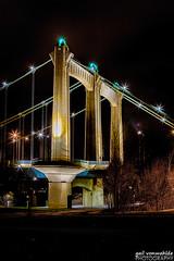Hennepin Avenue Bridge (gvonwahlde) Tags: hdr minneapolis minnesota mn bridge hennepinavenuebridge night canon vonwahlde