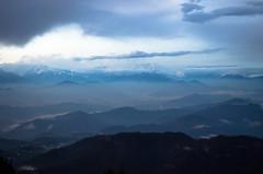 myriad shades of blue (eyenamic) Tags: outdoor cloud twilight dusk mountain hills landscape sky evening blue mountainridge himalaya binsar uttarakhand