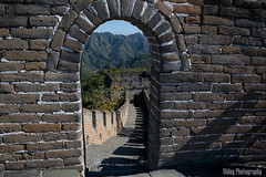 Great Wall of China - Doorway (Oidoy Photography) Tags: breathless landscape nature mutianyu hauirou wall great china beijing travel mountain hills sunny blue sky atumn architecture chinese history outdoor hill asian asia mountains mountainside foothill