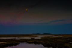 Moon Rise at Sunset (jfusion61) Tags: florida st marks national refuge super moon fall dusk blue hour sunset nikon d810 2470mm lee graduated filter swamp grass landscape clouds