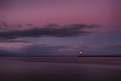 Harbour light after sunset (Prieni) Tags: mole molenfeuer warnemnde groyne harbourlight evening baltic