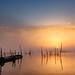 Sunrise of lake Inba