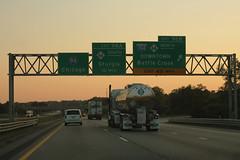 Int94wRoadMI-Exit98AB-M66-Int194-M66 (formulanone) Tags: michigan sunset i94 interstate94 m66 66 i194 194