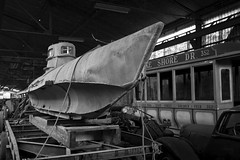 'What ever floats your boat'.... (Taken-By-Me) Tags: takenbyme abandoned adventure building closed centre derelict decay dark d610 explore exploring empty eerie forgotten factory force gun boat submarine left lost military monochrome mono black white blackandwhite nikon neglect nuclear ruin sub biber german urbex urban ue war