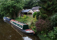 Along the River Churnet (Kim's Pics :)) Tags: riverchurnet water boats channel picturesque buildings trees foliage beautiful reflections nestled cheddleton staffordshire england uk