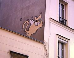 Montmartre (MarioLaser) Tags: parigi paris gatto cat casa montrmartre pittura murale