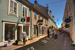 IMG_7939 tonemapped-1 (Andre56154) Tags: schweden sweden sverige haus gebude house building holzhaus stadt city strasse street town eksj himmel sky geschft shop shopping