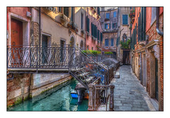 The Bridges of Venice (Kevin, from Manchester) Tags: adriatic architecture building canals canon1855mm dogespalace gondolas hdr harbour historical italy kevinwalker photoborder stmarkssquare thegrandcanal venice waterways wow brilliant