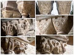Santa Maria de l'Estany (Catalogne/Espagne) (PierreG_09) Tags: glise clotre chapiteau sculpture espagne catalogne spain espaa espanya catalua catalunya roman santamariadelestany monastre monestir lestany santamaria