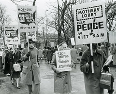 Stop shooting in Vietnam; Negotiate - 1965 (washington_area_spark) Tags: womens strike for peace mothers lobby 1965 washington dc white house picket protest demonstration rally antiwar vietnam war