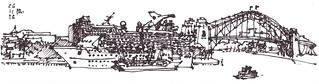 Napkin Sketch Sydney Circular Quay