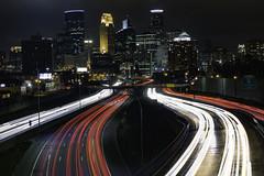 Minneapolis (andrewgrove) Tags: minneapolis minnesota downtown city night car lights montana