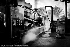 Black and White U Class (Jack Haynes Photography) Tags: swanage railway santa special u class 31806 heritage dorset preservation